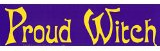 Witch Bumperstickers